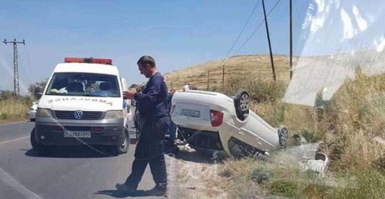 13 قتيلاً وحوالي ألف جريح بحوادث سير بالضفة خلال الشهر الماضي