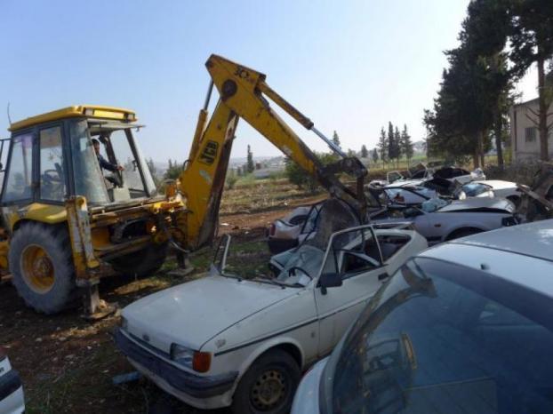 إتلاف 163 مركبة غير قانونية في شقبا وقبيا