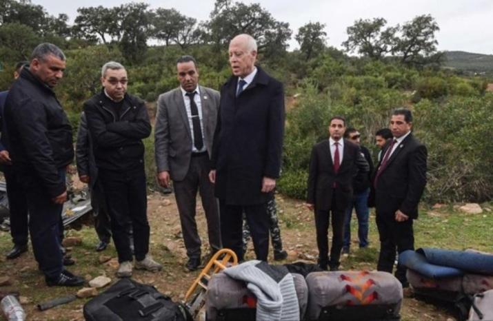 ارتفاع حصيلة ضحايا حادثة الحافلة بتونس إلى 27 قتيلا
