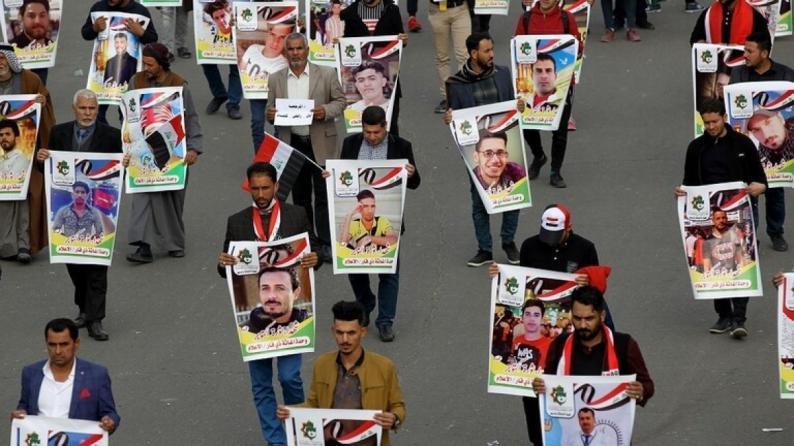 مقتل 6 متظاهرين وسط بغداد برصاص مسلحين مجهولين