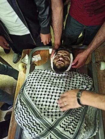 تشييع جثمان الشهيد مالك حمدان في سالم شرق نابلس
