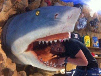سمك القرش يهاجم حارس مرمى برشلونة