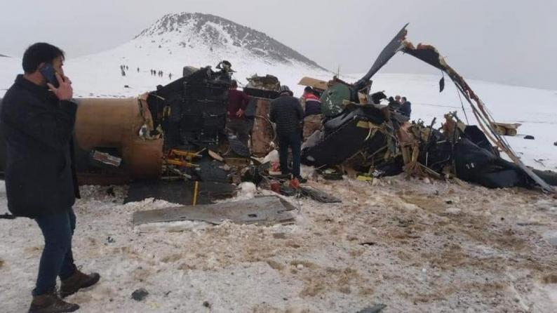 تركيا.. مقتل 10 عسكريين في تحطم مروحية