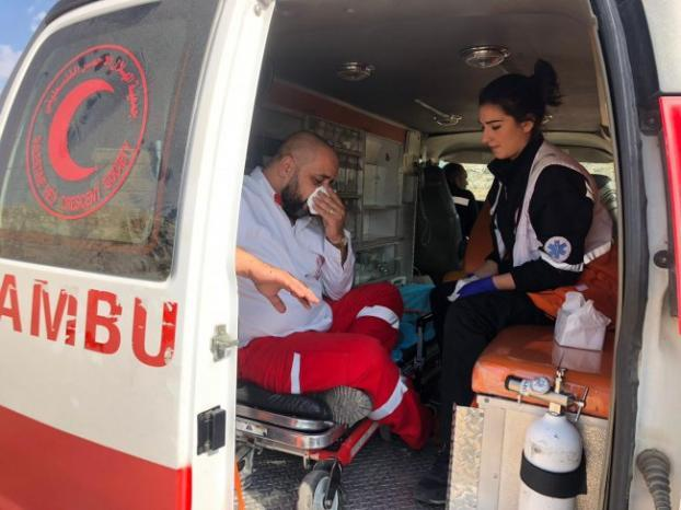 إصابة مسعف باستهداف الاحتلال مركبة للهلال الأحمر خلال مواجهات بالريسان