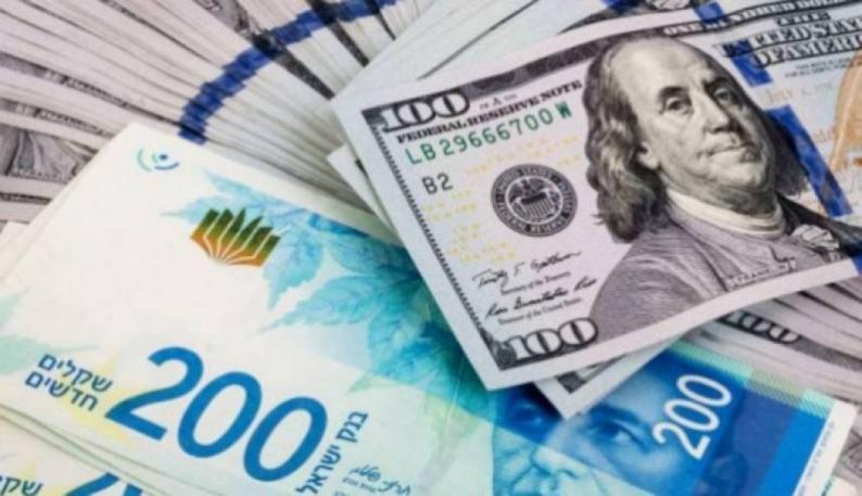 انخفاض الدولار مقابل الشيكل