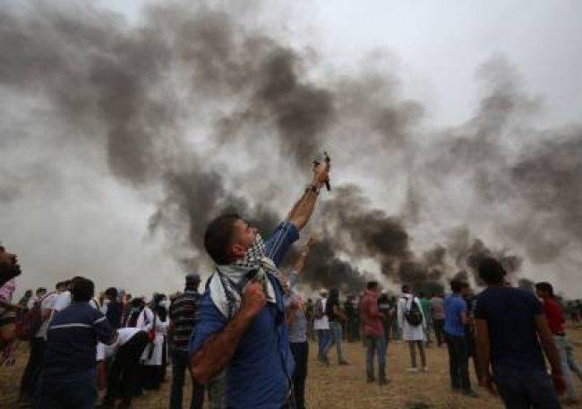 """الصحة: اصابة 65 مواطنا بالرصاص الحي خلال قمع الاحتلال """"مسيرة النكبة"""" في غزة"""