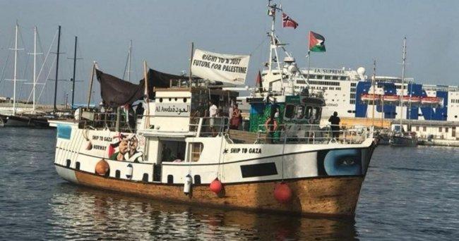 """الاحتلال يواصل اعتقال 20 متضامناً كانوا على متن سفينة """"عودة"""" لكسر حصار غزة"""
