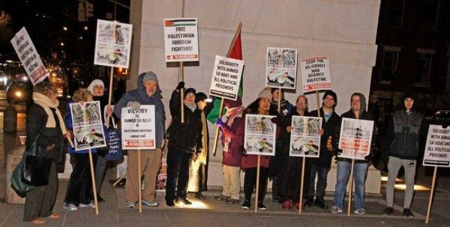 صور | أمريكيون يعتصمون في نيويورك تضامناً مع الأسير أحمد سعدات