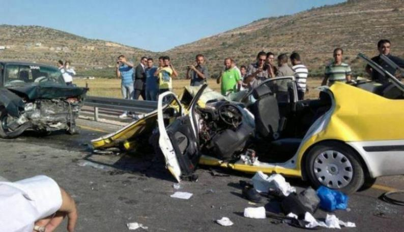 مصرع 13 شخص و إصابة 913 آخرين في 1118 حادث سير الشهر الماضي
