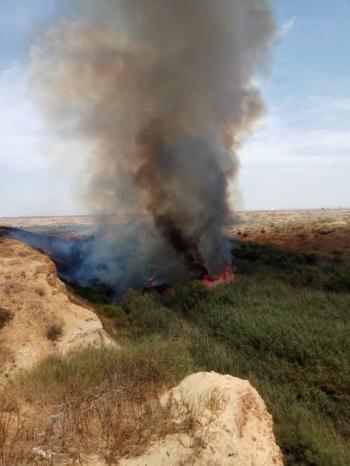 حريق كبير في مستوطنات غلاف غزة بفعل طائرة ورقية