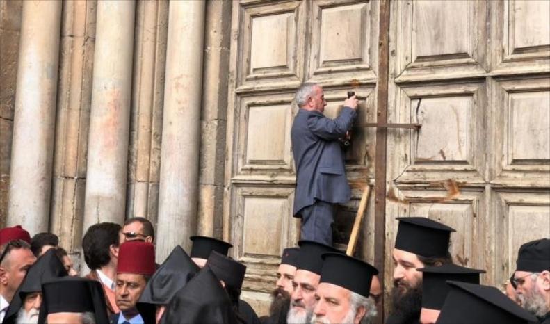 إعادة فتح أبواب كنيسة القيامة اعتبارًا من الأحد