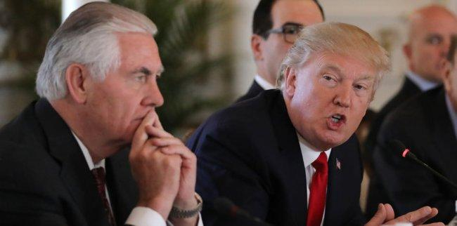 ترامب: خلافي مع تيلرسون كان حول الاتفاق النووي مع ايران