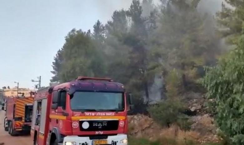 الناصرة: حريق هائل في جبل القفزة