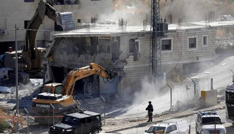 """""""أوتشا"""": الاحتلال هدم أو صادر 43 مبنى فلسطينيًا في أسبوعين"""