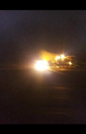 إحراق 3 شاحنات تحمل معدات للقوات الأميركية في العراق