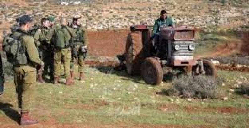 الاحتلال يعيق العمل بتمديد خط مياه جنوب شرق طوباس