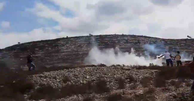 فيديو | مواجهات مع الاحتلال على جبل الريسان