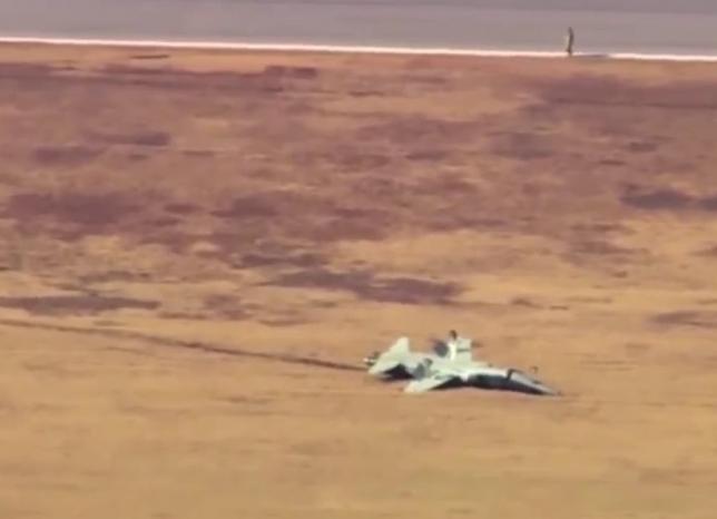 تحطم طائرتين حربيتين في قاعدة جوية أمريكية
