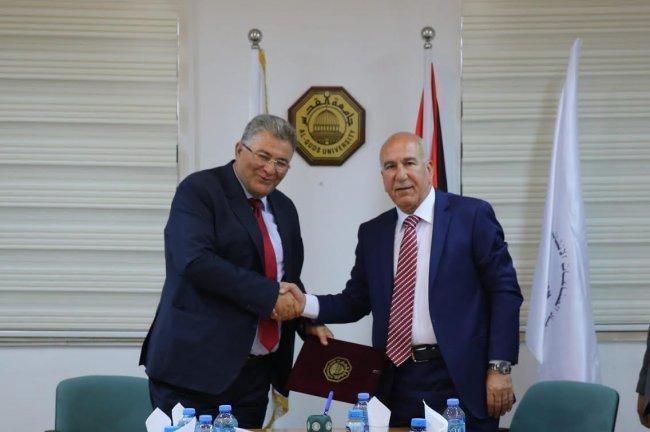 جامعة القدس توقع اتفاقية تعاون مع اتحاد الصناعات الإنشائية