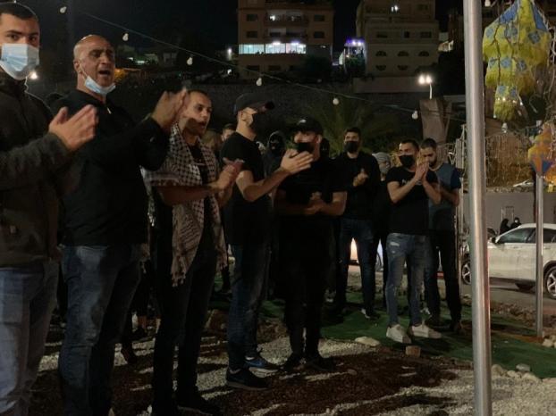 عقب استشهاد الشاب محمد كيوان.. تظاهرة حاشدة في أم الفحم، وشرطة الاحتلال تعتدي على المتظاهرين