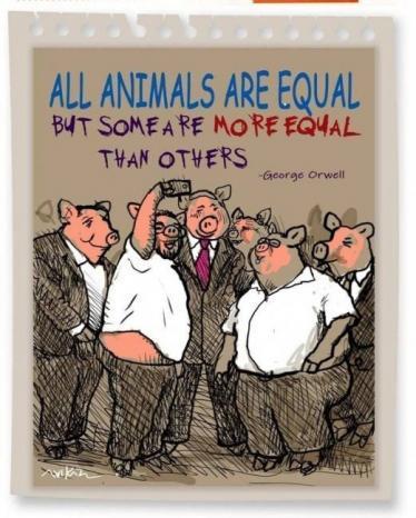 """في نطاح معركة السلام.. لا يمكن المساواة بين جميع """"الحيوانات"""""""