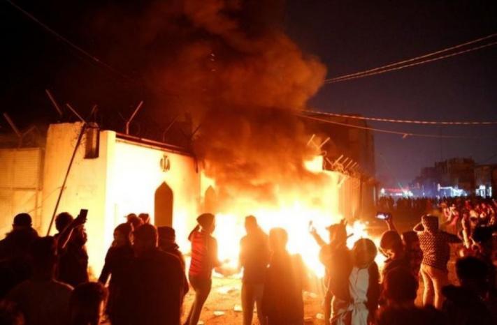 العراق يدين الهجوم على القنصلية الإيرانية في النجف