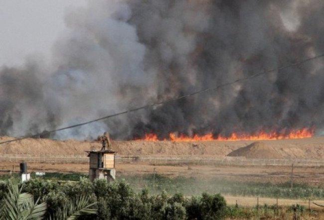 بفعل البالونات الحارقة.. 21 حريقًا بمستوطنات غلاف غزة