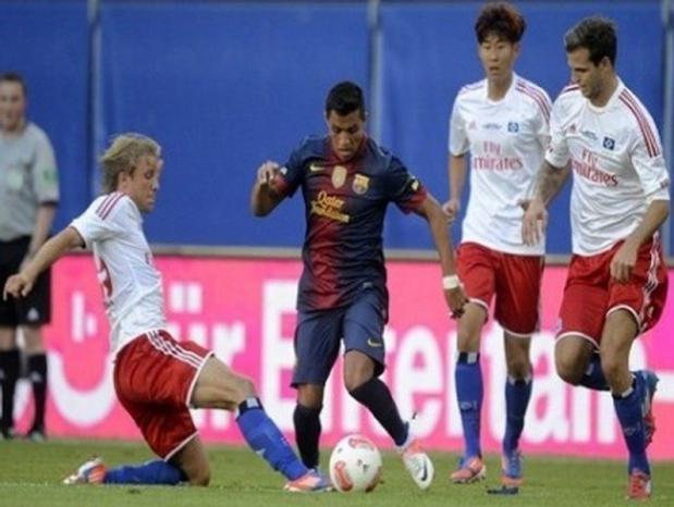 برشلونة يهزم هامبورغ ودياً