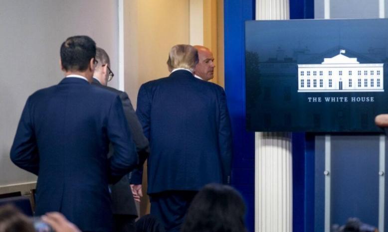 إطلاق نار قبالة البيت الأبيض يجبر ترامب على قطع مؤتمره الصحافي