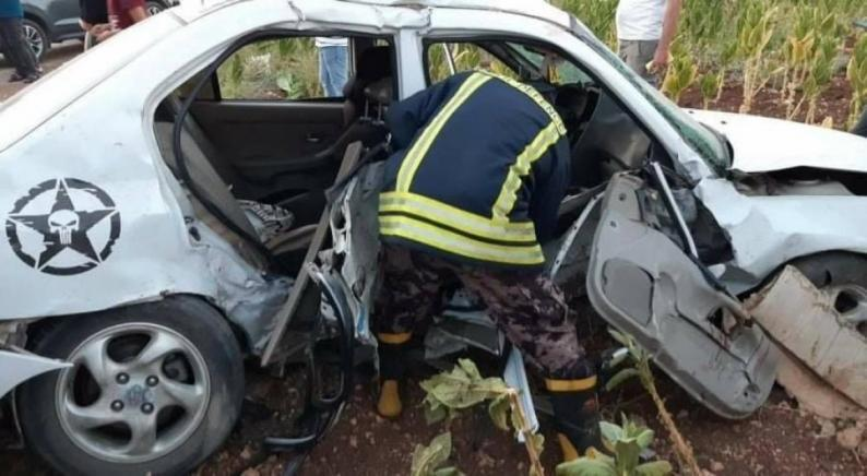 مصرع سيدة وإصابة 7 آخرين بحادث سير غرب جنين