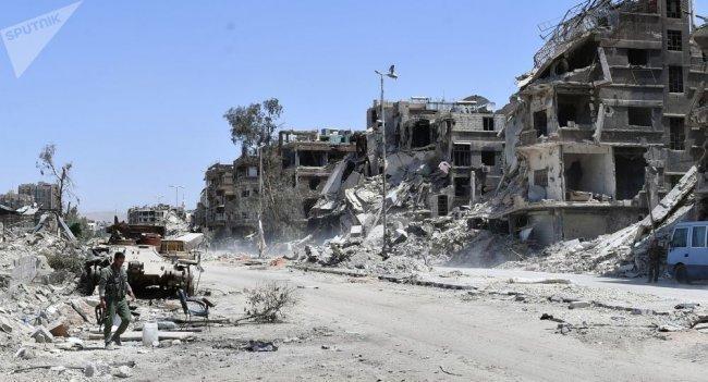 بدء عمليات إزالة الألغام والأنقاض في مخيم اليرموك