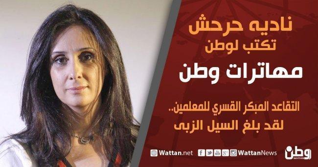 نادية حرحش تكتب لـوطن: التقاعد المبكر القسري للمعلمين... لقد بلغ السيل الزبى