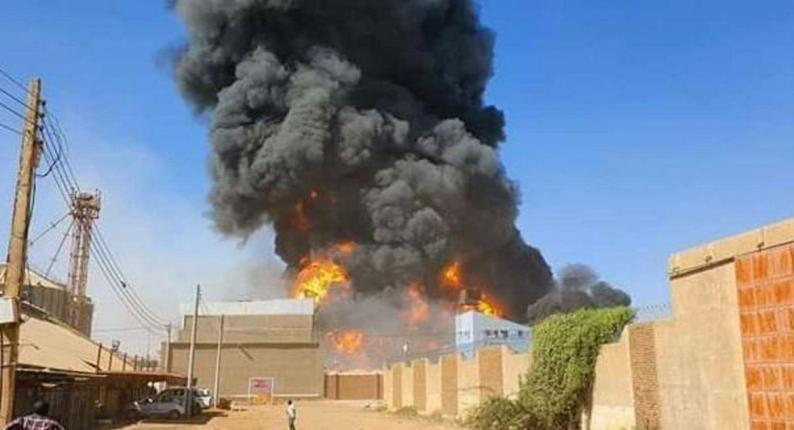 16 قتيلا إثر حريق في مصنع في الخرطوم