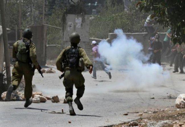 إصابة شاب برصاص الاحتلال خلال مواجهات شرق بيت لحم
