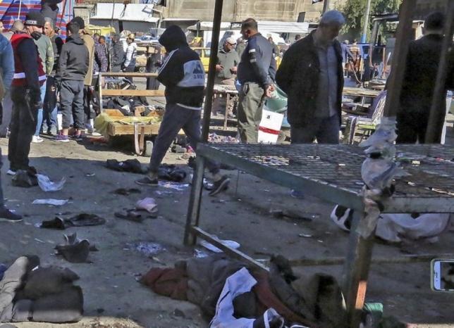"""""""داعش"""" يعلن مسؤوليته عن التفجير المزدوج في بغداد"""