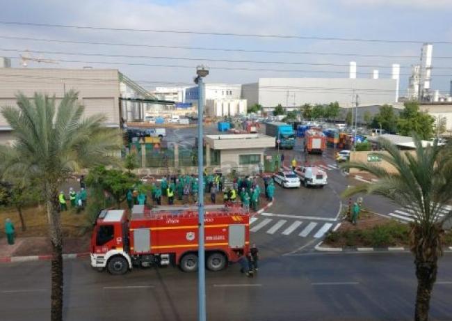 """تسرب الأمونيا في مصنع كيماوي بمستوطنة """"كريات غات"""" جنوب القدس"""