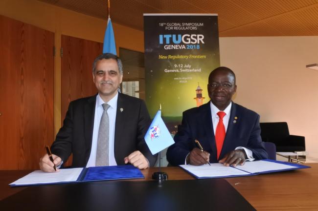 جنيف: وزير الاتصالات يوقع اتفاقية لتنفيذ مشاريع مع الاتحاد الدولي للاتصالات