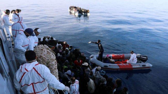 إنقاذ 40 مهاجراً غير شرعياً على السواحل الليبية