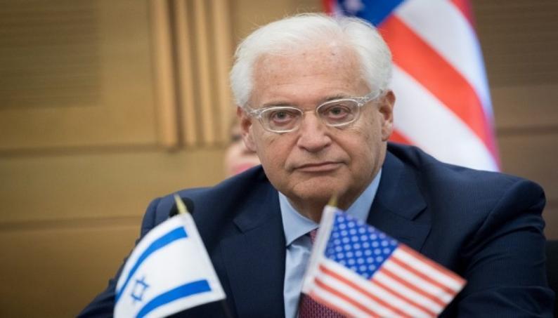 السفير الأمريكي يفنّد مزاعم الإمارات: إسرائيل أجلت تطبيق السيادة ولم تلغها