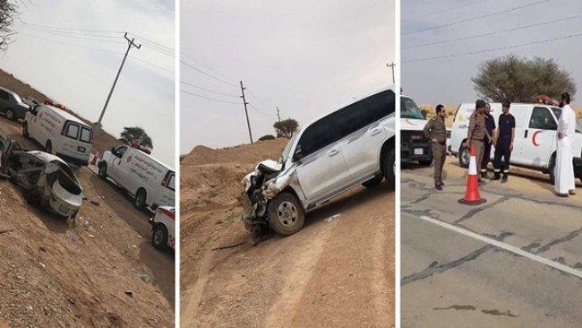 في حادث سير مروع .. مصرع عائلة فلسطينية بأكملها بينهم 7 أطفال في السعودية