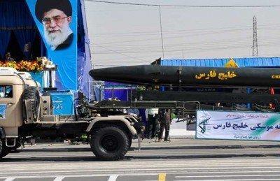 """إيران تكشف عن الصاروخ """"خليج فارس"""" الباليستي"""