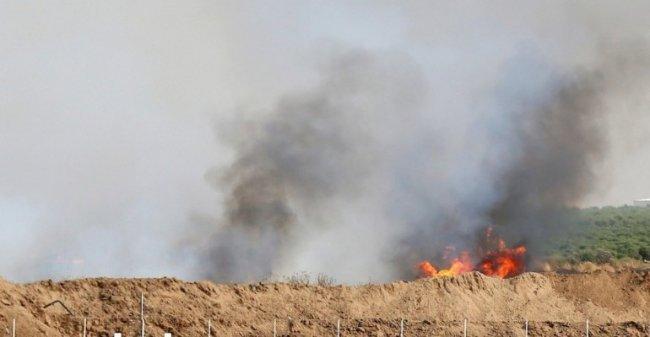 اليوم.. 15 حريقاً في مستوطنات غلاف غزة بطائرات وبالونات حارقة