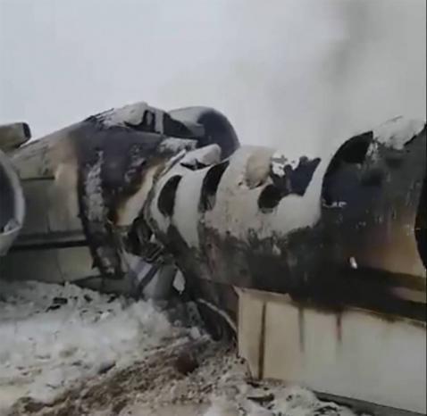 """الطائرة المتحطمة في أفغانستان أمريكية عسكرية وأسقطتها حركة """"طالبان"""""""