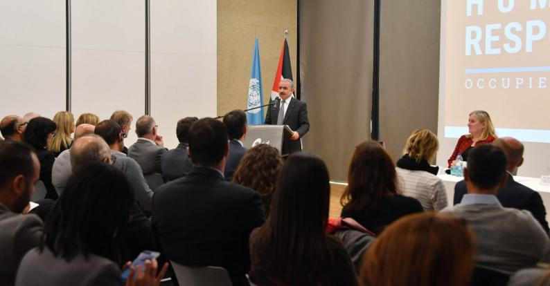 اشتية: يجب ربط المساعدات الإنسانية والإغاثية في فلسطين بعملية التنمية