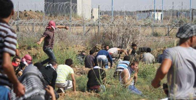 43 جريحاً في مواجهات مع قوات الاحتلال بالقطاع