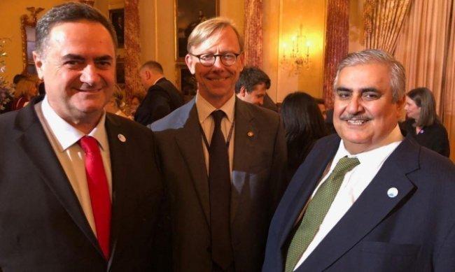 واشنطن: صورة تجمع وزير خارجية الاحتلال مع نظيره البحريني