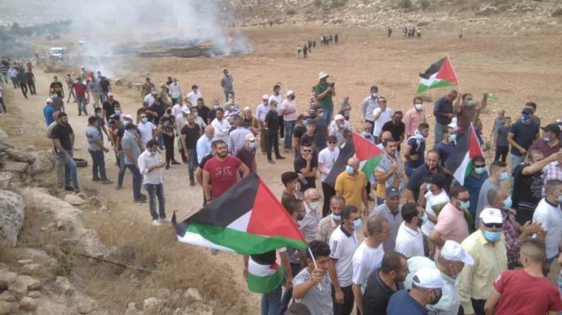 نابلس: إصابة 3 مواطنين برصاص الاحتلال خلال قمع الاحتلال مسيرة بيت دجن