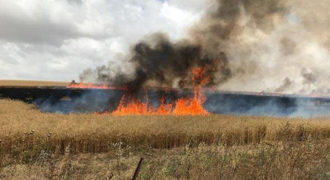 حريق بمستوطنات غلاف غزة بفعل بالون حارق