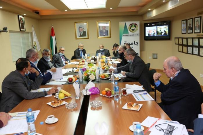 """مجلس أمناء """"القدس المفتوحة"""" يقر توجهات الخطة الاستراتيجية"""