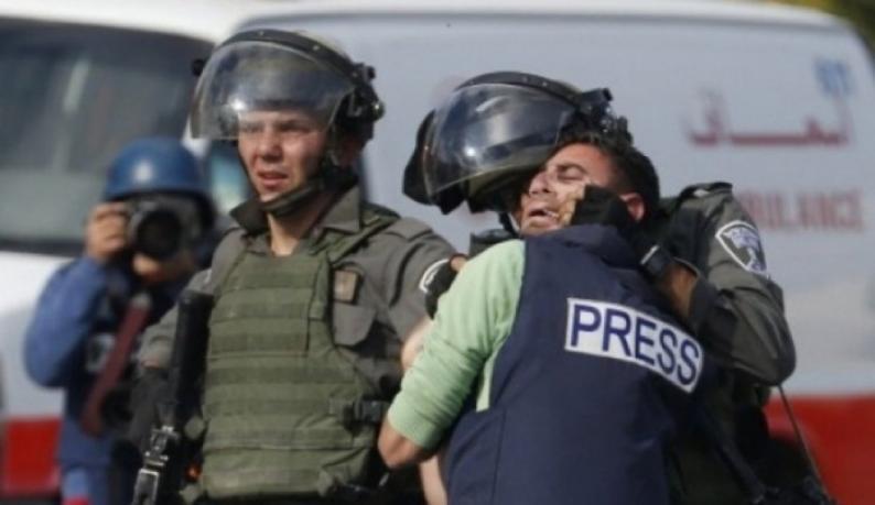 37 انتهاكا احتلاليا بحق الصحفيين الفلسطينيين